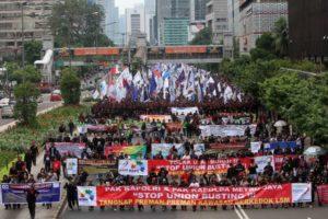 Ribuan buruh gelar peringatan May Day di Jakarta