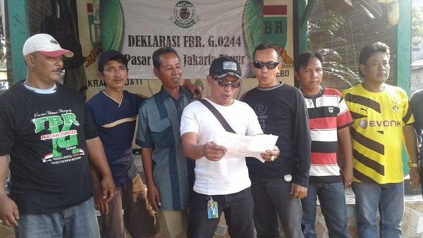 FBR Pasar Rebo Tak dukung Anies Sandi